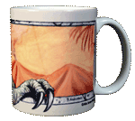 T-Rex Ceramic Mug - Back