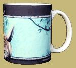 Triceratops Ceramic Mug - Back