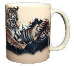 Tiger Cubs Ceramic Mug - Back