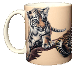 Tiger Cubs Ceramic Mug - Front