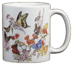 Backyard Butterflies Ceramic Mug - Back