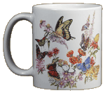 Backyard Butterflies Ceramic Mug - Front