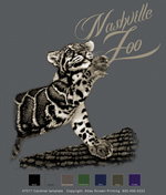 Clouded Leopard Custom Template - Charcoal