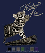Clouded Leopard with Name Drop - Navy