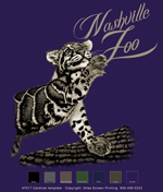 Clouded Leopard Custom Template - Purple
