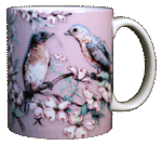 Bluebirds Ceramic Mug - Back
