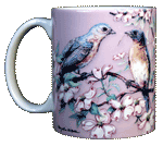 Bluebirds Ceramic Mug - Front
