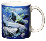 Florida Manatee Ceramic Mug - Back