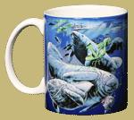 Florida Manatee Ceramic Mug - Front