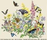 Butterflies of NA Adult T-shirt - Back