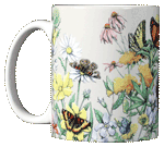 Butterflies of NA Ceramic Mug - Front