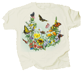 Butterflies of NA Adult T-shirt