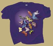 Butterfly Splash Adult T-shirt