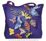 Butterfly Splash Canvas Tote - Back