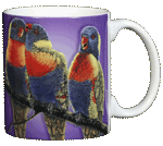Lorikeets Ceramic Mug - Back