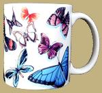 Butterfly Swirl Ceramic Mug - Back test8