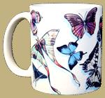 Butterfly Swirl Ceramic Mug - Front