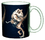 T-Rex Skeleton Ceramic Mug - Back