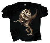 T-Rex Skeleton Youth T-shirt - Front