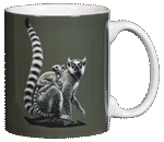 Ring-tailed Lemurs Ceramic Mug - Back