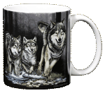 Wolves Ceramic Mug - Back