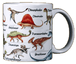 Dinosaurs of NA Ceramic Mug - Back