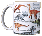 Dinosaurs of NA Ceramic Mug test8