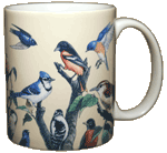 Garden Birds Ceramic Mug - Back