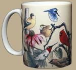 Garden Birds Ceramic Mug - Front