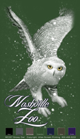 Snowy Owl Custom Template - Forest Green