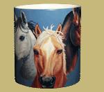 Horses Ceramic Mug - Front