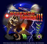 Science is Awesome Adult T-shirt - Front