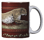 Cheetah Ceramic Mug - Back