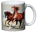 Running Horses Ceramic Mug - Back
