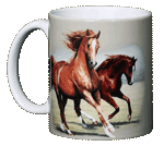 Running Horses Ceramic Mug test8