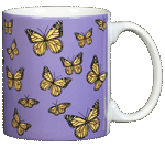 Monarch Medley Ceramic Mug - Back