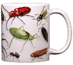 Backyard Arthropod Ceramic Mug - Back