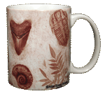 Fossils Ceramic Mug - Back