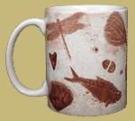 Fossils Ceramic Mug - Front