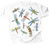Dragonfly Glitter Adult T-shirt