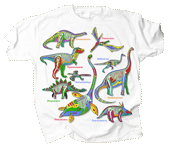 Dino Glow Youth T-shirt - Front