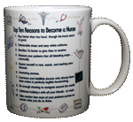 Top Ten Nurse Ceramic Mug - Back