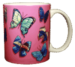 Butterfly Rainbow Ceramic Mug - Back