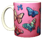 Butterfly Rainbow Ceramic Mug - Front