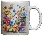 Butterfly Orchids Ceramic Mug - Back