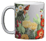 Cactus Flowers Ceramic Mug