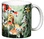 Koi Pond Ceramic Mug - Back