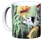 Koi Pond Ceramic Mug