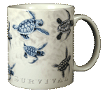 Race for Survival Ceramic Mug - Back