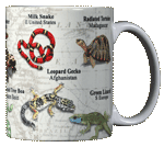 Reptiles of the World Ceramic Mug - Back